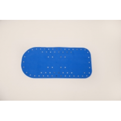 Tapis de bain 75x35cm Bleu