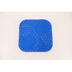 Tapis de douche 54x54cm Bleu
